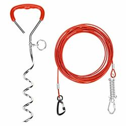 Dog Stake and Cable Dog Tie Out Cable for Yard 125lbs Heavy Duty $25.30