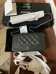 Chanel 20A Mademoiselle Caviar Flap Bag WOC Wall On Chain New With Tags $2899.99