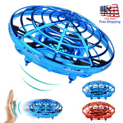 Mini UFO Drone Quad Induction Levitation Hand Operated Helicopter Toy Red Blue $9.77