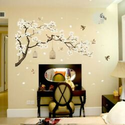 Flower Tree PVC Wall Sticker Wall Decal Home Mural Floor Glass Stickers Small C $27.28