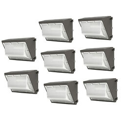 8 Pack Led Wall Pack Light 120W Outdoor Security Porch Commercial Light Fixtures