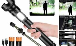 LED Rechargeable Tactical Flashlights 90000 High High Lumen Tactical Flashlight $65.45