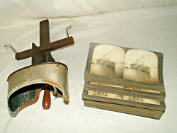 Keystone View Co Monarch Antique Stereoscopic Viewer 1904 amp; 47 Photo Cards WWI $85.00