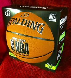 Spalding Basketball Indoor Outdoor Pro Tack Composite Leather NBA LOGO Full 29.5 $25.89