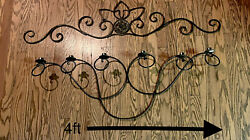 Rustic Metal Scroll Wall Hanging Candle Holder Candleabra $24.50