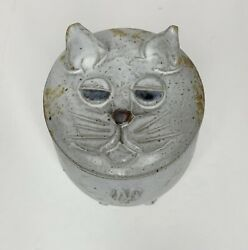 Whimsical Cat Covered Pottery Stoneware Pot dated 1998 Bill Heyduck 1928 2015 $99.95