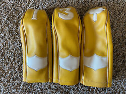 Vintage Leather Golf Club Covers Lot Of 3 $18.99