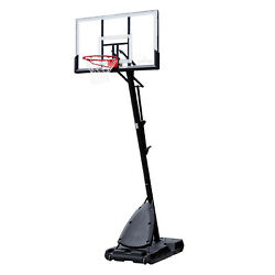 Spalding 54quot; Shatter proof Polycarbonate Exactaheight® Portable Basketball Hoop $300.00