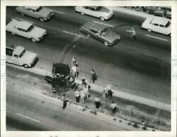 1960 Press Photo Santa Ana Freeway accident caught on helicopter camera $13.88
