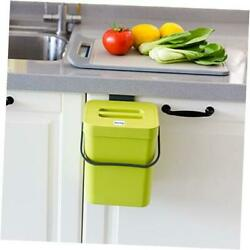 Small Compost Bin with Lid Plastic Waste Basket 5 L 1.3 Gallons 5L Green $25.81