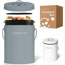 Compost Bin Kitchen Charcoal Filters Stainless Steel Countertop Compost Bin With $39.06