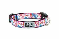 RC Pets Adjustable Dog Clip Collar Small 0.7quot; Width Hibiscus $17.13
