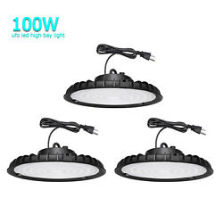3Pack 100W UFO Led High Bay Light Warehouse Factory Commercial Light Fixtures