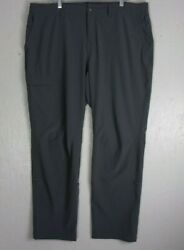 REI Gray Camping Hiking Women#x27;s Ltwt Stretchy Cargo Pants 18W 42 x 33 stains $19.99