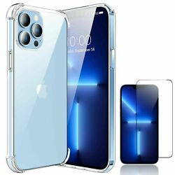 For iPhone 13 Pro Max 11 Pro 12 Mini Case Clear Crystal Cover Screen Protector $8.85