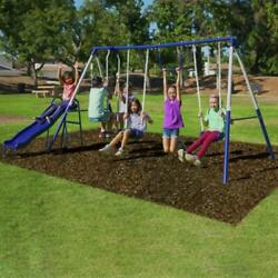 Swing Set Kids Playground Outdoor Playset Quality Comfort Heavy Duty Steel Tubes $258.50