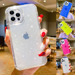 For iPhone 13 Pro Max 12 11 XR XS 8 7 Bling Clear Hybrid Bumper Phone Case Cover $10.36