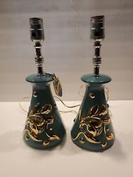 2 Vintage Small Table Lamps Bed Side $44.99