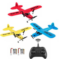Kids RC Plane Remote Control 2.4GHz 2Channel RC Airplane Toy Built in 6Axis Gyro $29.44