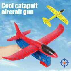 Airplane Launcher Toy Catapult Plane Gun Outside Flying Launcher Toy Kids Gifts $14.99