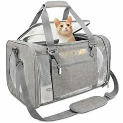 Pet Carrier Airline ApprovedDog Carriers for 17x11x11 Inch Pack of 1 Grey $29.38