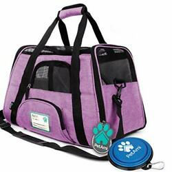 Premium Airline Approved Soft Sided Pet Large Pack of 1 Heather Purple $43.45