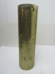 Vintage LAMP LIGHT METAL CYLINDER TUBE MESH DIFFUSER LIGHT 10 quot; by 3 quot; $35.00
