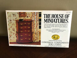 VTG HOUSE OF MINIATURES CHIPPENDALE CHEST ON CHEST 40009 DOLL HOUSE FURNITURE $12.99