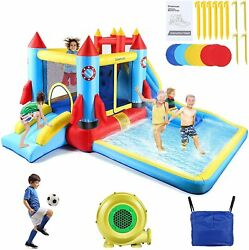 Safe Inflatable Bounce House Kid Slide Jumping Bouncer Castle w Water Pool Child $335.99