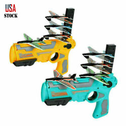 4 Bubble Plane Outdoor Light Plane Catapult Airplane Launcher Throw Toy New $15.99