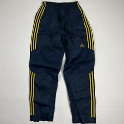 Mens Adidas Vintage Track Pants 90s Blue Yellow Striped Size Small $32.95