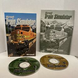 Microsoft Train Simulator PC 2 Disc Set In Package with Quick Start Guide 2001 $13.00