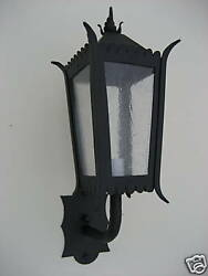 spanish colonial wrought iron exterior light or lantern