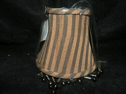 NEW BROWN BLACK STRIPED BEADED CHANDELIER SHADES 5quot; $22.00