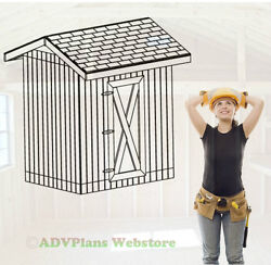 6X8 GABLE STORAGE SHED 26 OUTDOOR SHED PLAYHOUSE PLANS BUILD A CUSTOM SHED CD