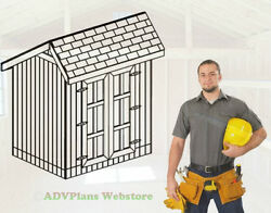 6X8 CLASSIC SALTBOX STORAGE SHED 26 UTILITY SHED PLANS ADV PLANS WOOD SHEDS