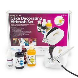 Cake Airbrush Decorating Kit includes Compressor 3 Colours amp; Cleaner Cake Craft GBP 79.99