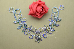1 pcs Costume Dress Applique Crystal Rhinestine Sewing On(A389)