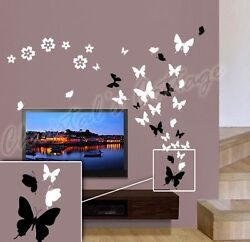 Up to 53 Butterfly Bedroom Bathroom Kitchen Wall Art Stickers Kids Decals 4Sizes $3.20