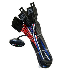 Relay Harness Wiring Cable 2-Switch Fog Light Off Road HID LED Bar Lamp 4-LAMPS $16.99