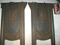 2 ANTIQUE HEYWOOD WAKEFIELD CAST IRON THEATER BENCH SEAT WASHINGTON WAR BUST ART