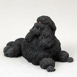 Poodle Figurine Hand Painted Collectible Statue Black $19.99
