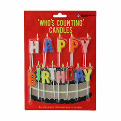 Novelty Birthday Candles Party Cake Happy Thirteen Milticoloured Celebtation GBP 4.99
