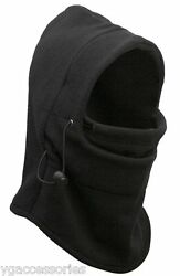 NWT Men's Fleece 5-in-1 Face MaskNeck GaiterHoodHatBeanie NEW!  $9.99