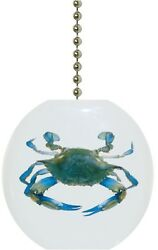Blue Crab Nautical Solid CERAMIC Ceiling FAN Pull Light Lamp NEW $6.17
