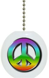 Peace Sign Solid CERAMIC Ceiling Fan Light Lamp Pull $6.17
