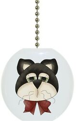 Cat Head Country Solid CERAMIC Ceiling Fan Light Lamp Pull $6.17