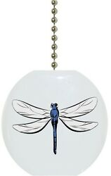 Dragonfly Solid CERAMIC Ceiling Fan Light Lamp Pull $6.17