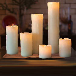 6pc LED Timer Flameless Candles Flickering faux Wax Drip 2#x27; 9#x27; Battery included $26.99