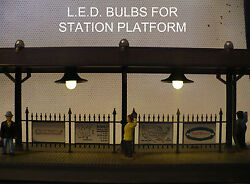 Warm White LED Lamp Replacement kit bulbs Lionel Lighted Station Platforms $9.99
